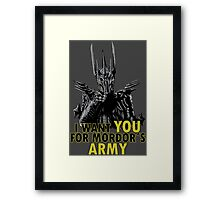 Mordor´s Army - Lord of the Rings The Hobbit Sauron Framed Print
