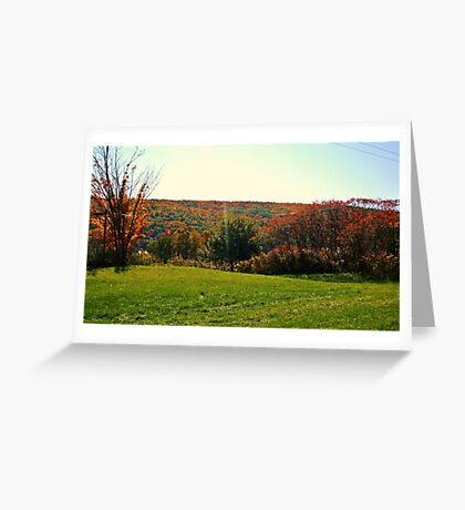 NEW YORK STATE IN AUTUMN Greeting Card