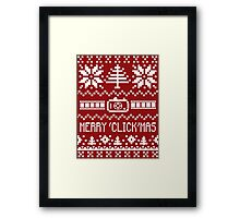 Ugly Christmas Sweater - Camera / Merry 'Click'Mas Framed Print