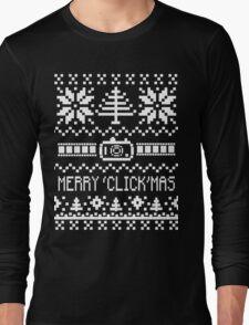 Ugly Christmas Sweater - Camera / Merry 'Click'Mas Long Sleeve T-Shirt