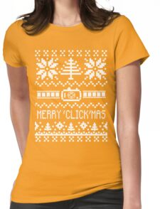 Ugly Christmas Sweater - Camera / Merry 'Click'Mas Womens Fitted T-Shirt