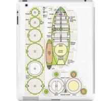 Space ship schematics   iPad Case/Skin