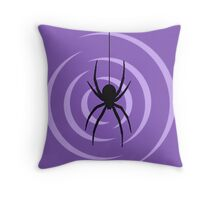 Black Widow Print Throw Pillow