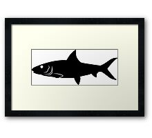 Bonefish Fish Silhouette (Black) Framed Print