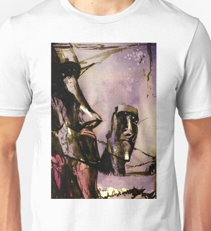 Easter Island Moai statue- watercolor painting Unisex T-Shirt