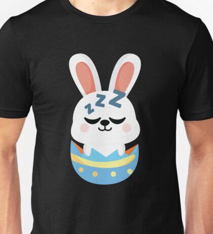 Bunny Easter Egg Emoji Sleep and Dream Unisex T-Shirt