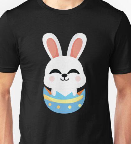 Bunny Easter Egg Emoji Happy with Joy Unisex T-Shirt