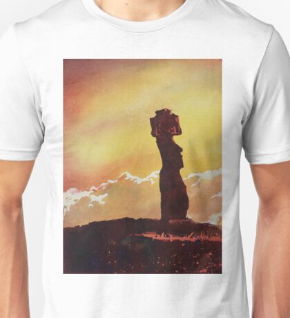 Easter Island Moai- watercolor painting Unisex T-Shirt