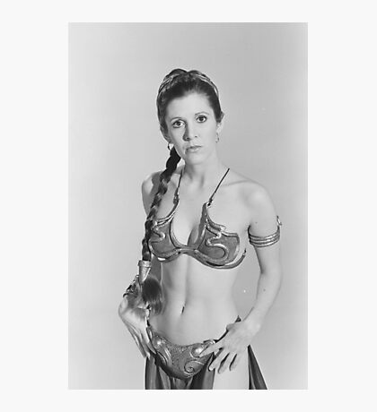 Carrie Fisher - Princess Leia - Star Wars Photographic Print