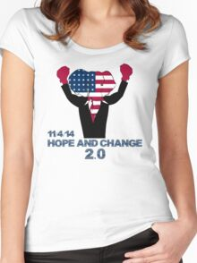Hope and Change 2.0 Women's Fitted Scoop T-Shirt