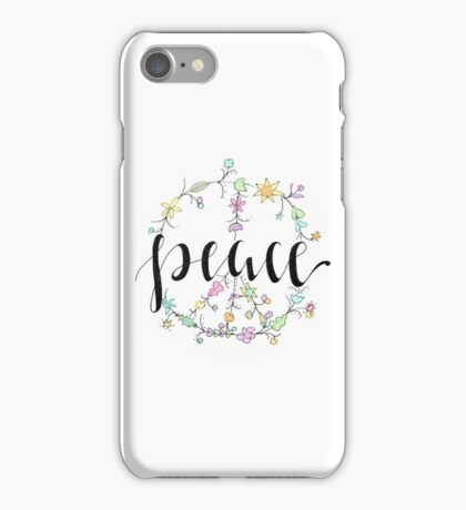 Flowery Peace iPhone Case/Skin