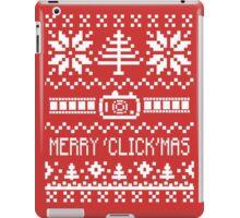 Ugly Christmas Sweater - Camera / Merry 'Click'Mas iPad Case/Skin