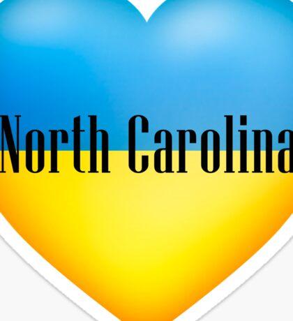 Ukrainian Heart In North Carolina Sticker