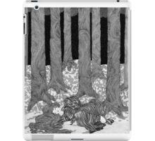 Girl sleeping in a forest  iPad Case/Skin