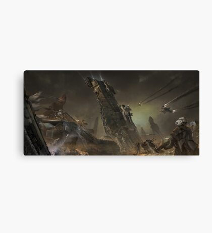Fall of the Olympus Tentative Canvas Print