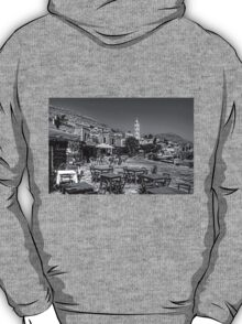 Bell Tower and Tables B&W T-Shirt