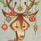 Vintage Christmas Card #3 by Tracy Wazny