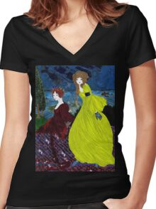 Uninvited guest Women's Fitted V-Neck T-Shirt