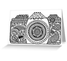 Camera Doodle  Greeting Card