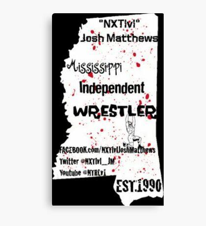 NXTlvl Josh Matthews MS Indy Wrestler Canvas Print