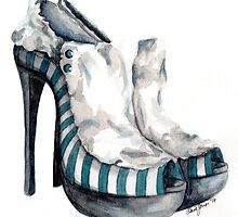 Victorian meets Gangster style heels by hivernoir