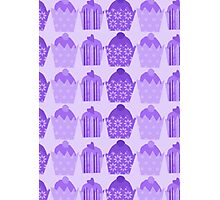 Purple Cakes Photographic Print