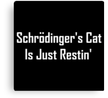 Schrodinger's Cat Is Just Restin'  Canvas Print