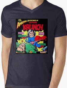Captain Krunch Mens V-Neck T-Shirt