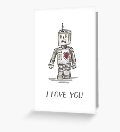 Valentine's Designs: Robot-I Love You Greeting Card