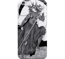 Woman with a flag  iPhone Case/Skin