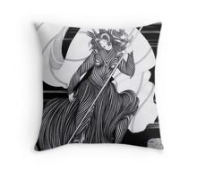 Woman with a flag  Throw Pillow