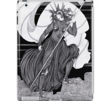 Woman with a flag  iPad Case/Skin