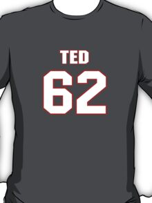 NFL Player Ted Larsen sixtytwo 62 T-Shirt