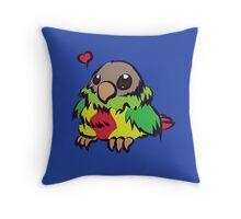 Cutey Bird Throw Pillow