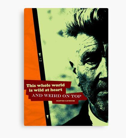 David Lynch Inspirational Quote 2 Canvas Print