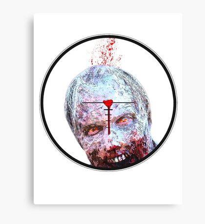Sniper shooting Zombie Canvas Print