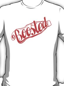 2 Litre Boosted Popbottle - DUSTED TOMATO RED T-Shirt