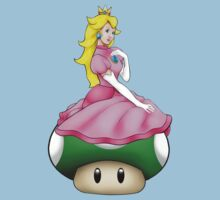 Princess Peach is 1 Up! Kids Tee