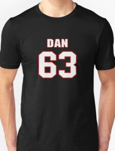NFL Player Dan Connolly sixtythree 63 T-Shirt