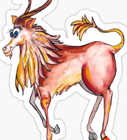 Capricorn. ibex . goat Sticker