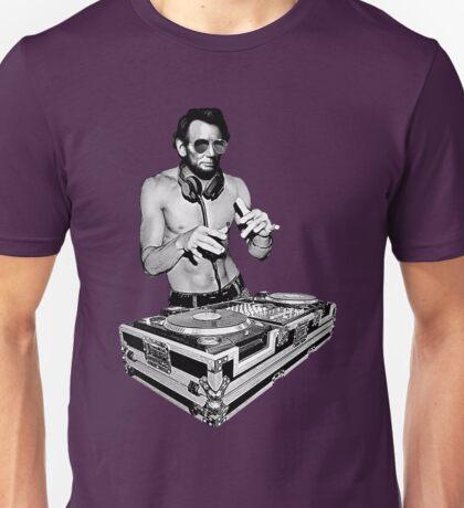 DJ Abraham Lincoln by Basement Mastermind Unisex T-Shirt