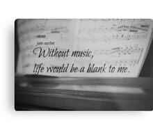 Jane Austen Music Metal Print