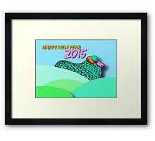 Landscape Sheep #1 - Chinese New Year 2015 Framed Print