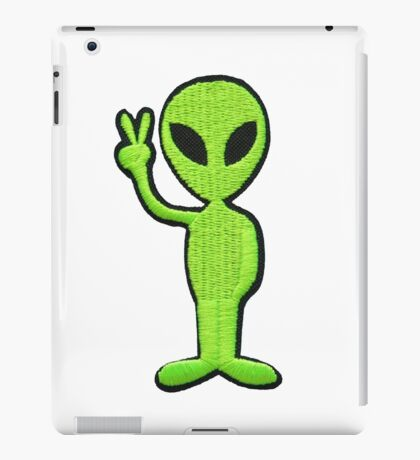 Peace be with the aliens iPad Case/Skin