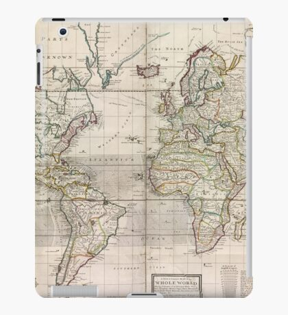 World Map 1719 iPad Case/Skin
