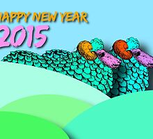 Landscape Sheeps #2 - Chinese New year 2015 by PBdesigns