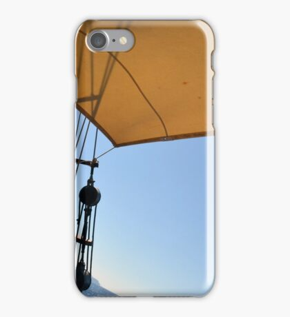 Details of an old ship with veil and anchors.  iPhone Case/Skin