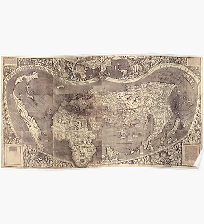 World Map 1507 Poster