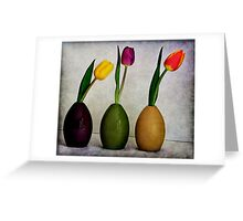 3 Tulips  Greeting Card