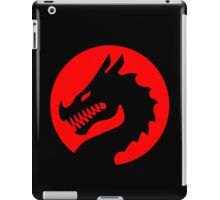 Red Luck Dragon Design, Luck Dragon Gifts Logo Design iPad Case/Skin